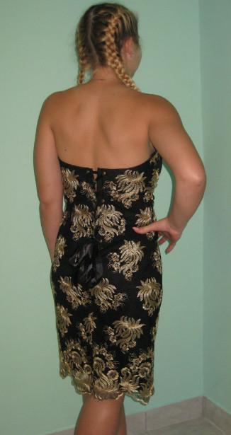 спинка черного платья