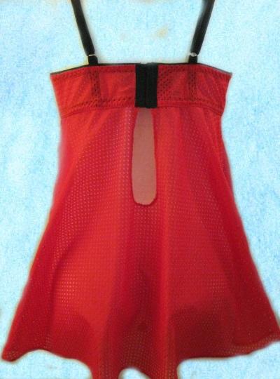 Спинка красной сорочки